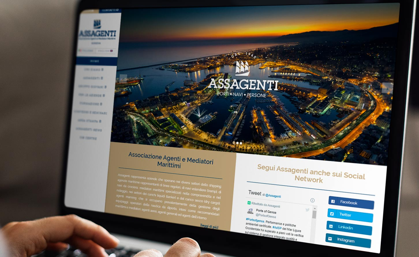 Sito web assagenti shipping
